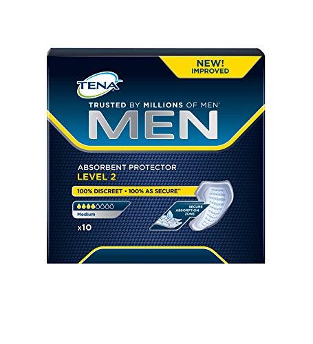 Tena Livello 2 Assorbente protettivo per l'incontinenza, Uomo, Confezione da 10 pezzi