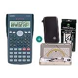 Casio FX-82MS + Funda protectora SafeCase + Kit de geometría