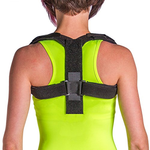 BraceAbility Posture Corrector Brace | Upper Back Straightener for Women & Men, Forward Head/Neck Posture Improvement, Rounded/Stooped Shoulder Support, Help Fix Bad Posture at Work & Home (Large)