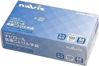 ナビス ニトリル手袋 粉無し Mサイズ 1箱(100枚入) 一般医療機器 食品衛生法適合 / 8-9956-12