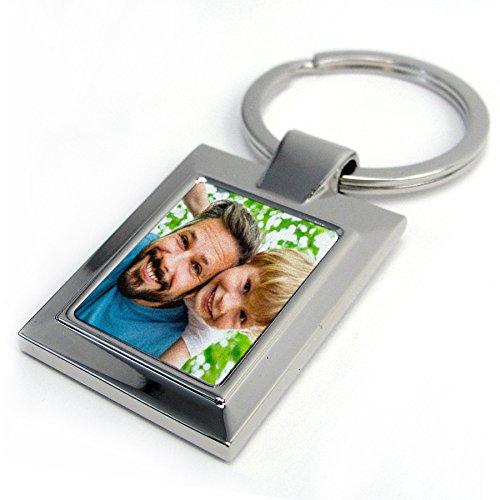Llavero metálico Personalizado con Foto, Texto o Imagen, Original y Exclusivo. Varios Modelos Disponibles. Rectangular Perla