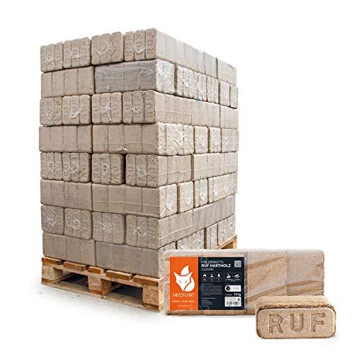 HEIZFUXX Holzbriketts Hartholz Ruf Classic Kamin Ofen Brenn Holz Heiz Brikett 10kg x 96 Gebinde 960kg / 1 Palette Paligo