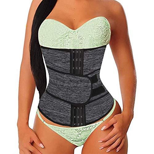 RZDJ Frauen Taille Trainer Neopren-Gurt-Weight Loss Cincher Body Shaper Bauch-Steuerriemen Abnehmen Sweat Fat Burning Hüftgürtel (Color : Black, Size : M)