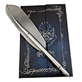 Set con penna Hogwarts e diario 2019 di Harry Potter in stile vintage, con copertina rigida/blocco note/agenda con penna piumata per i fan di Harry Potter