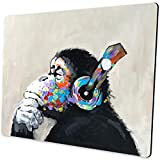 Shalysong Oil Painting Art Thinking Gorilla Animal Mouse pad Computer Mouse pad with Design Personalized Mouse pad for Laptop Computer Office Decoration Accessories Gift…