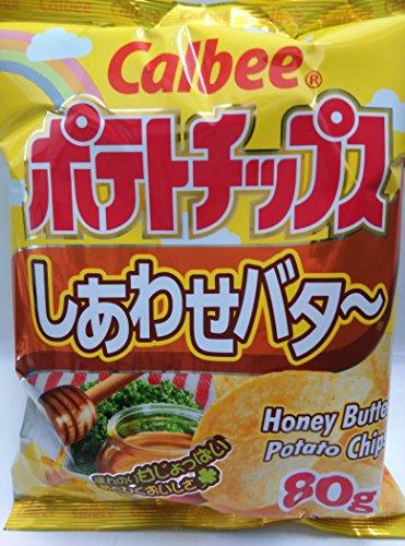 Calbee Honey Butter Potato Chips Snack 80g (Pack of 3)