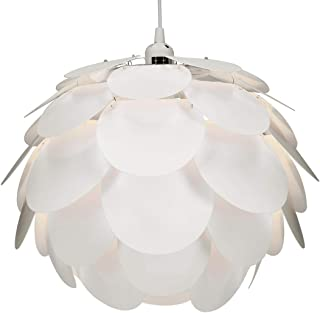 kwmobile DIY Puzzle Lampshade - Jigsaw IQ Lamp Cherry Blossom Flower Light - Easy to Assemble Puzzle Lamp Shade for Home - Dimensions 40cm - White