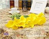 Alician New CYNDIE - Flores artificiales de seda para novia, 1 ramo de flores de boda, decoración de fiesta caliente, mejor precio de regalo amarillo