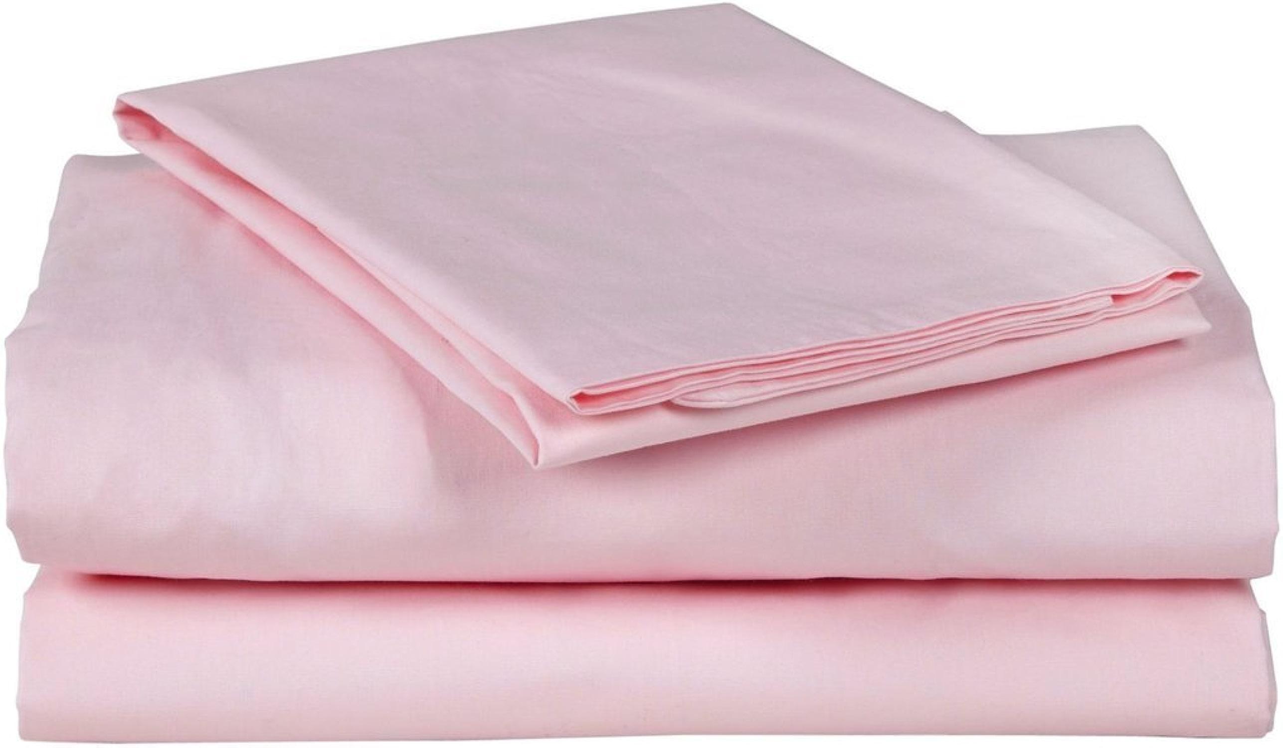 Laxlinens 400fils Feuille de lit en coton égypcravaten 4pièces (+ 45,7cm) poche profonde suppléHommestaire, double, petit double, rose massif