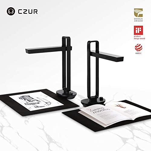 CZUR Aura, The Smart Portable Personal Scanner and Desk Smart Lamp. Innovative AI Technology for Enhanced Scanning Performance for Book & Document or Any Paper Materials (Bound or Unbound), Mac&Window