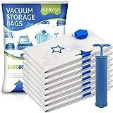 ILEBYGO Vacuum Storage Bags 8 Pack (Jumbo 40' x 30')...