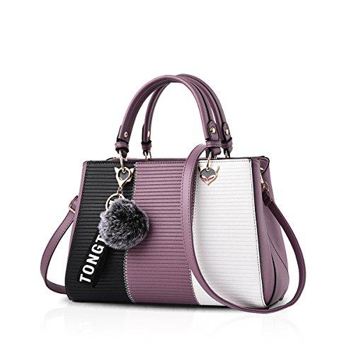 NICOLE & DORIS 2020 Neue Welle Paket Kuriertasche Damen weiblichen Beutel Handtaschen für Frauen Handtasche Lila