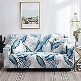Funda de sofá con patrón de Costura geométrica y de Color, Utilizada para la Toalla del sofá de la Sala de Estar, Funda para Mascotas, Funda elástica para sofá A4 de 2 plazas