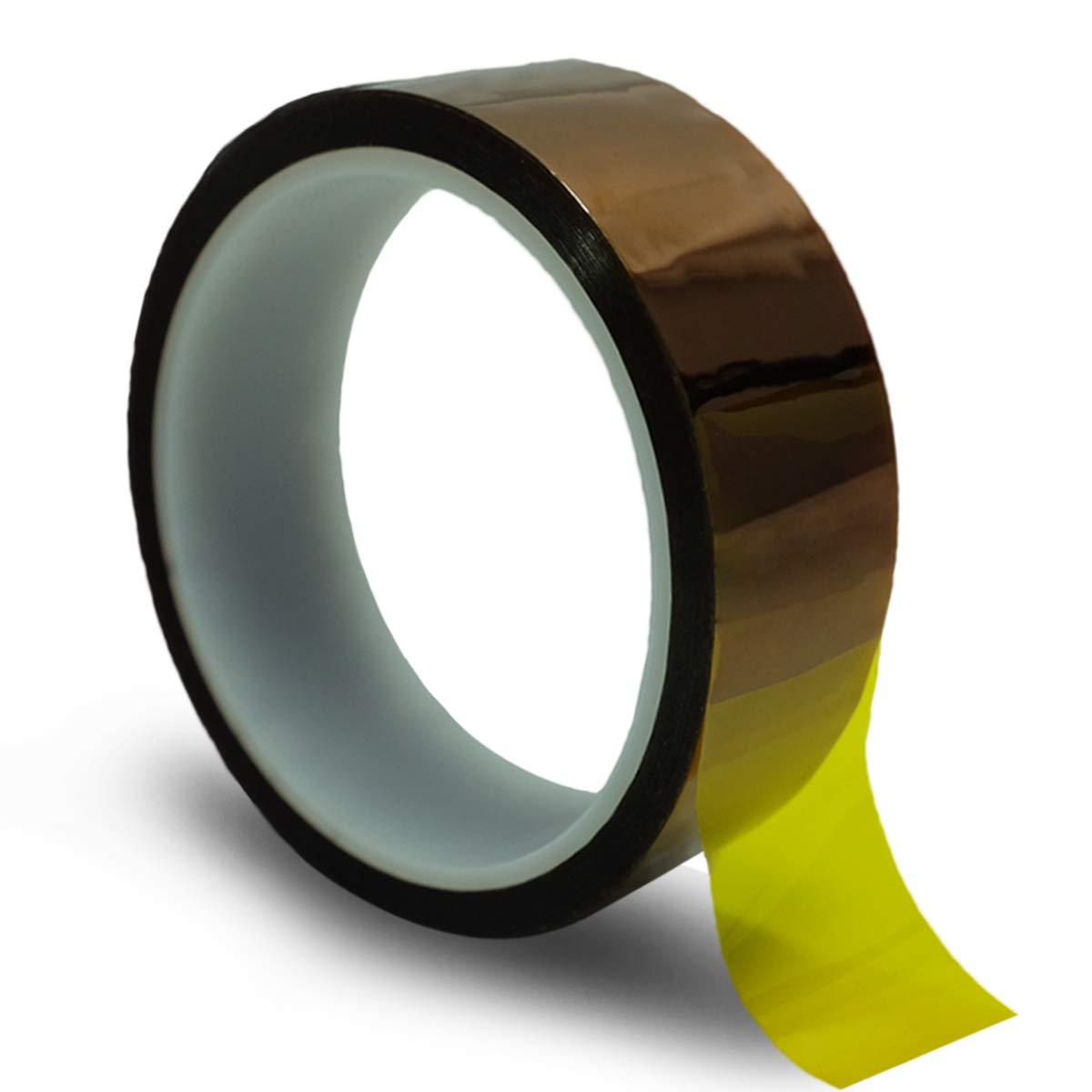 Cinta de Alta Temperatura 5 Rollos Cinta T/érmica Adhesiva Kapton Resistente a la Temperatura Cinta de Polyimide para Prensa en Caliente Circuito Soldadura de Esta/ño Enmascarar