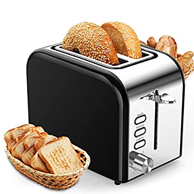 Toaster 2 Slice the Best Rated Prime Stainness Steel with Practical Funtions Defrost/Bagel/Cancel? 7 Shade Settings Evenly Toaster and Removable Crumb Tray in the Bottom.