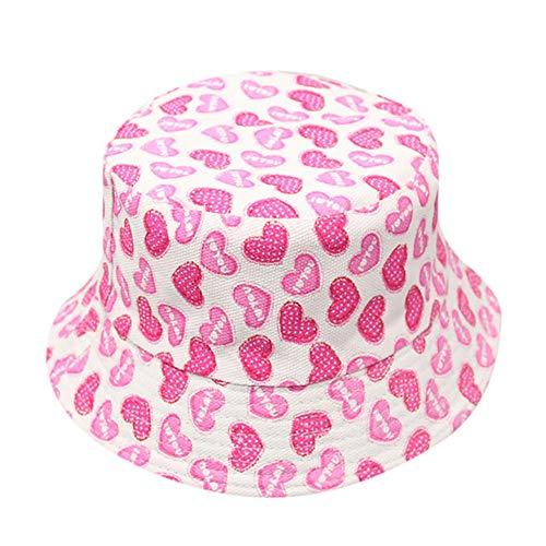 GDYX Sunhat Kinder Sommer Sonnenhut 2018 Mädchen Jungen Weiche Baumwolle Muster Outdoor 55 cm Kinder Sonnenhut Set China Pink