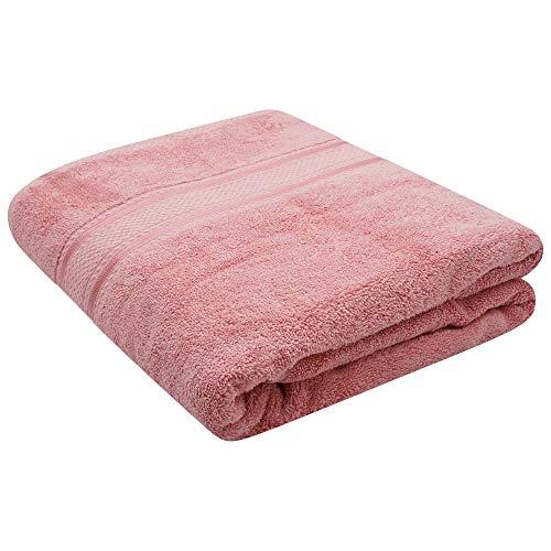 Sasma Home - Drap de bain de luxe Jumbo 700 g/m² (100 x 170 cm) très absorbant 100 % coton peigné – Super doux, séchage rapide, drap de bain extra large (rose flamant)