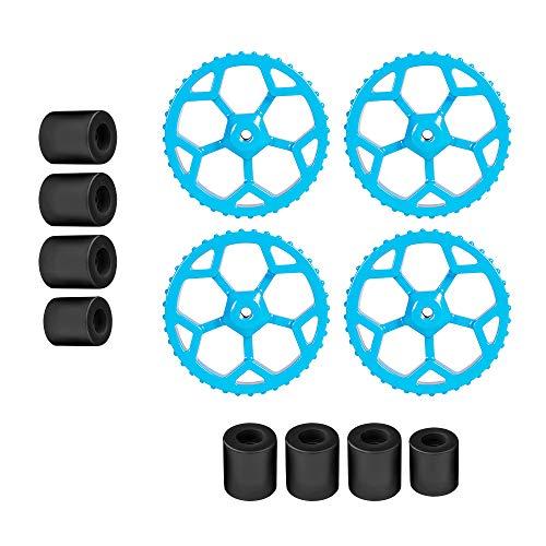 Sovol 4 dadi di livellamento per mano in alluminio e 8 colonne di livellamento in silicone per stampante 3/3 Pro, Ender 5/5 Plus/Pro, CR-10, CR10S / 10S Pro, CR 20