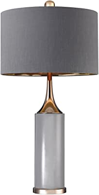 Elk Lighting D2749 Tall Gold Cone Neck Lamp Grey