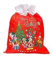Prodotto originale licenziato Disney Sacco Doni Natale cm 45 x 35 Ideale per le Feste Natalizie e per Befana / Epifania