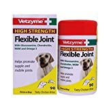 Vetzyme | High Strength Flexible Joint Tablets for Dogs, Promotes Supple and Mobile Joints | Tasty Chicken Treats with Glucosamine & Omega 3 (90 Tablets)