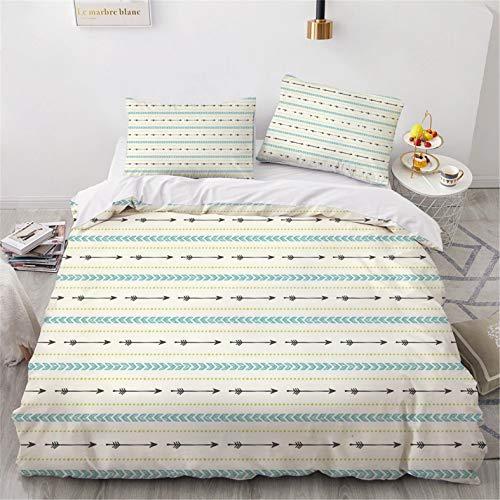 Bemal - Funda de edredón fresh, 100 % fibra de poliéster de la serie Fresh, cómoda y suave, para cama individual y doble para habitación familiar (A,140 x 210 cm)