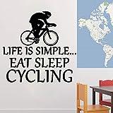 Tianpengyuanshuai Vinilo ecológico de la decoración de la Pared de la Etiqueta engomada de la Pared del PVC de la Etiqueta engomada del Vinilo de la Bicicleta -42x42cm
