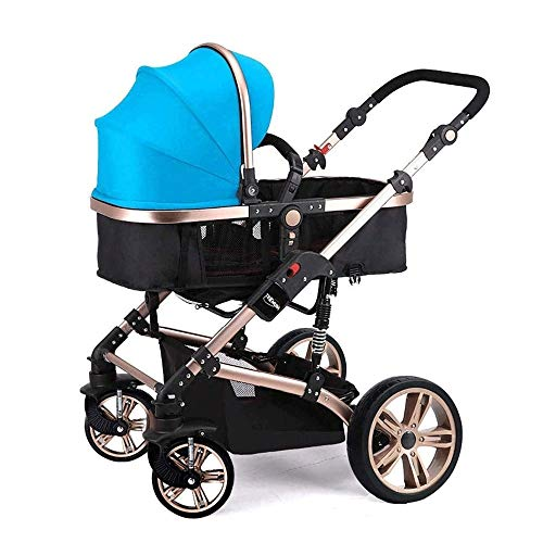 Purchase ZYK Portable Baby Stroller 3 in 1, Foldable Anti-Shock High View Carriage Baby Products,Inc...