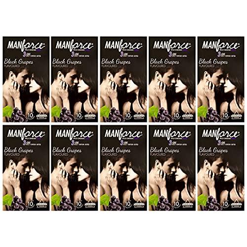 Manforce Combo Pack of Blackgrapes Condom 10pc Set of 10