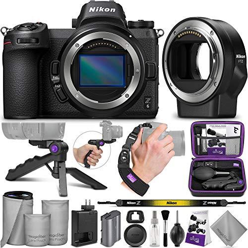 Nikon Z6 Mirrorless Digital Camera Body + Nikon FTZ Mount Adapter with Altura Photo Essential Accessory Bundle