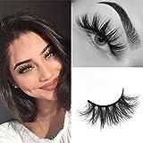 SWINGINGHAIR Mink Lashes, 3D Mink Eyelashes Fluffy Volume Long 19mm Natural Crisscross Fake Eyelashes Siberian 3D Mink...