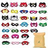 DIY House 30pack Superhero Masks for Children Kids Party Supplies,Superhero Party Mask for Children Superhero Party Eye Masks for Children Party Bags Fillers