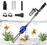 Oacvien Aspiradora eléctrica para acuario, sifón, bomba de vacío, juego de limpieza de suelo, sifón, aspiradora, grava para acuarios, cambio de agua, filtro de suciedad y arena