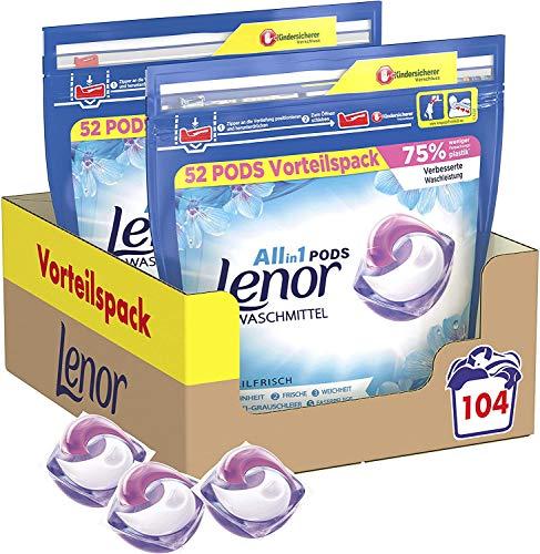 Lenor All-in-1 PODS Waschmittel Aprilfrisch – 104Waschladungen