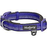 Blueberry Pet Soft & Safe 3M Reflective Neoprene Padded Adjustable Dog Collar - Violet Pastel Color, Medium, Neck 14.5'-20'