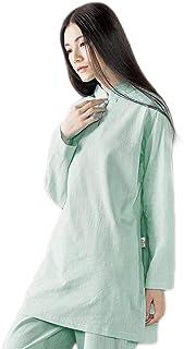 KSUA Womens Tai Chi Uniform Zen Meditation Suit Chinese Kung Fu Clothing Cotton