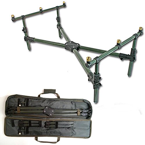 NGT DELUXE CROSS ROD POD & PADDED CARRY CASE