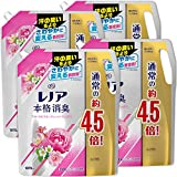 レノア 本格消臭 柔軟剤 フローラルフルーティーソープ 詰め替え 約4.5倍(1870mL)×4袋