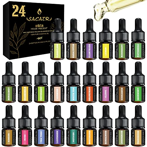 24 Bottons Essential Oil Set, Premium Scented Fragrance Oils...