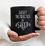 Distracted by sheep mug sheep lovers sheep lovers gift animal lovers crazy sheep lady