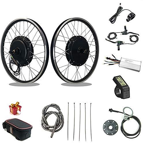 RICETOO Kit de conversación de Bicicleta eléctrica48V 1500W Rueda de Motor de...