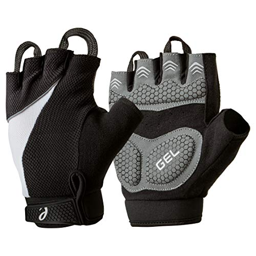 Elite Cycling Project Urban Cycling Gloves Fingerless Bike Gloves with 7mm Thick Gel Pads and Easy Off Finger Pulls (Black, Large)