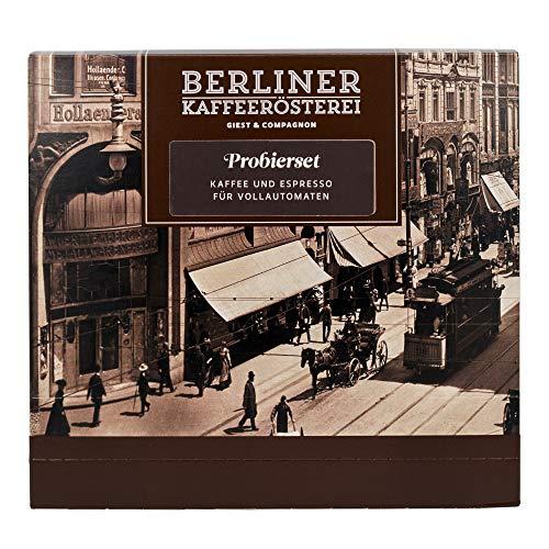 Probierset Kaffee und Espresso für Vollautomaten | 8 Sorten á 75g | Ganze Bohne | Geschenk für Kaffeeliebhaber | Berliner Kaffeerösterei
