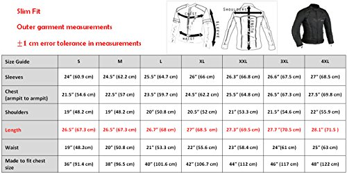 BorneAir Motorrad Jacke Schutz Mantel – Schwarz, M - 3