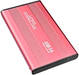 External Hard Disk USB3.0 External Hard Disk 1TB 2TB, Suitable for Mac, PC, Windows, Android, latop, Xbox one (2TB-Red)