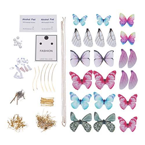 EXCEART 1 Juego de Pendientes para Hacer 12 Pares de Pendientes de Mariposa para Hacer Joyas DIY (Estilo 1)