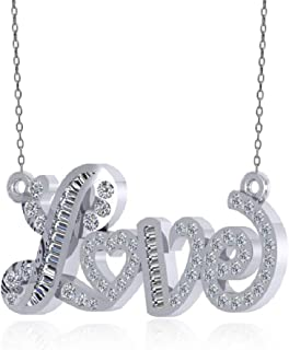 """1/4 Carat real Diamond""""Love Wrapped"""" Heart Pendant Necklace 