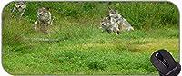 XXLゲームマウスパッドラージデスクパッド、危険な北極オオカミのイメージゲームのためのXXLのイメージ