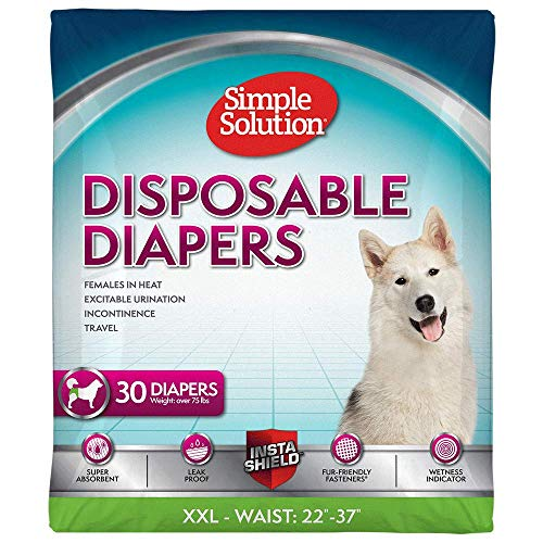 Simple Solution True Fit Einweg-Hundewindeln für Hündinnen | super saugfähig mit Nässeindikator | XXL | 30 Stück
