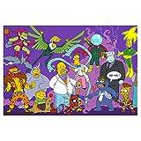 Puzzles Juego de Rompecabezas for Adultos y niños, Brain Challenge Dibujos Animados Cartón Puzzle for Simpson, 300/500/1000/1500 PC (Color : C, Size : 1000pc)